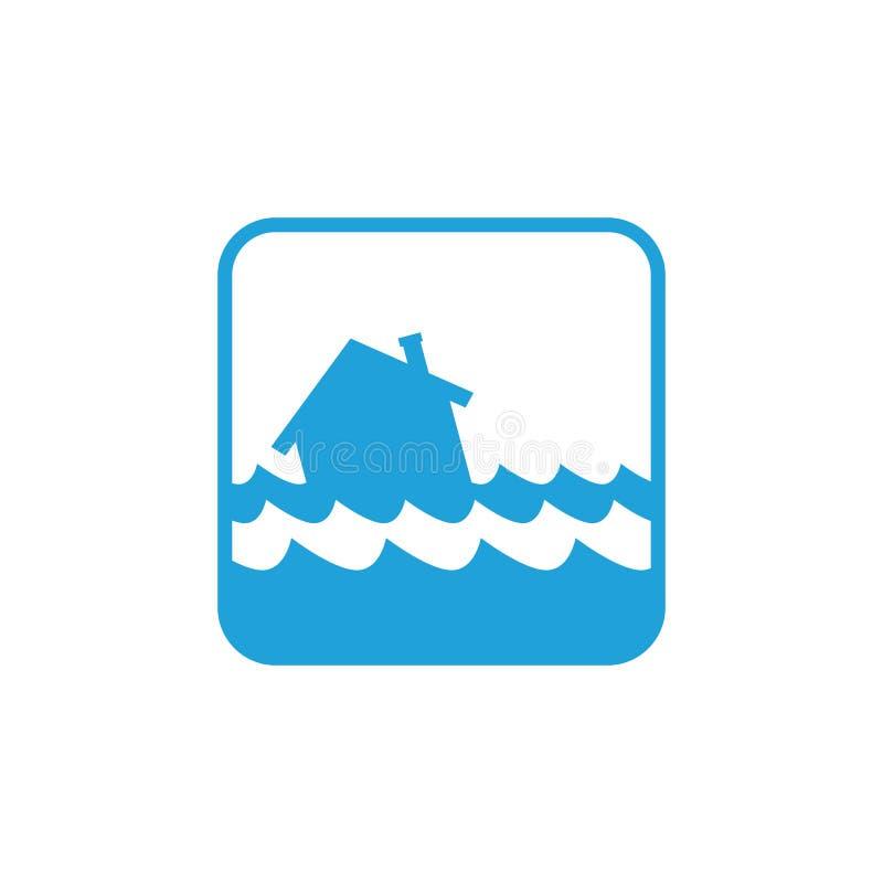Ícone da inundação da casa ilustração royalty free