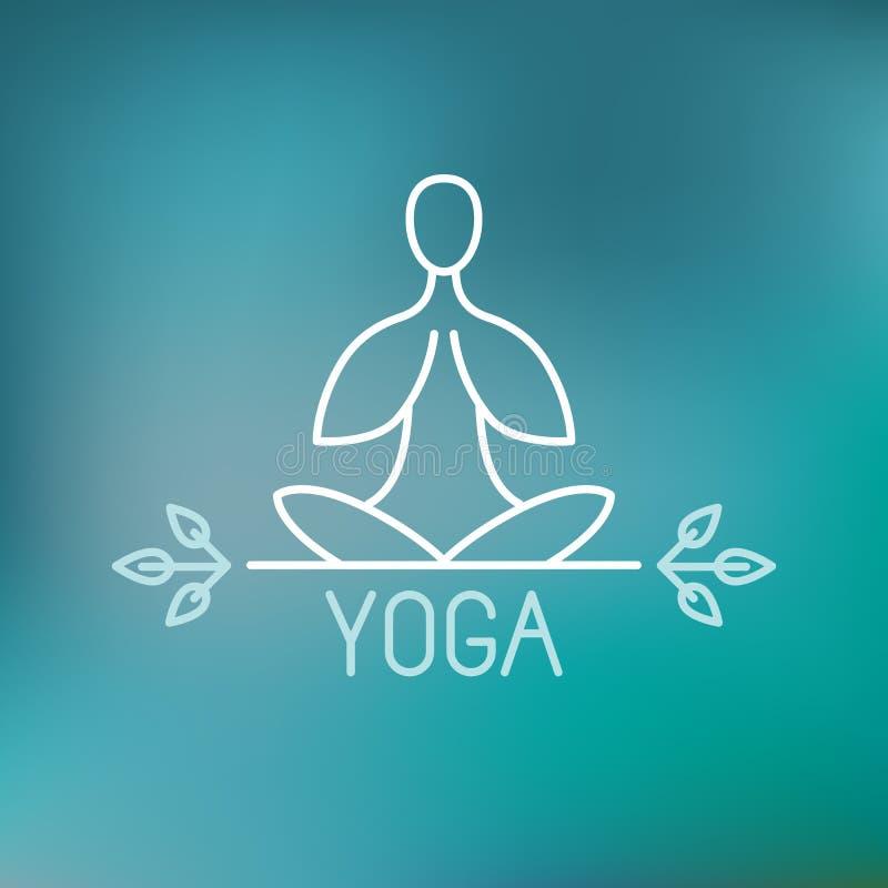 Ícone da ioga do vetor ilustração stock