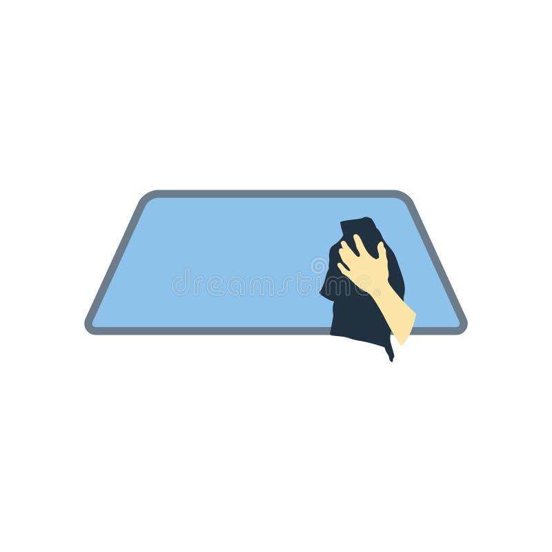 Ícone da janela de carro da limpeza ilustração royalty free
