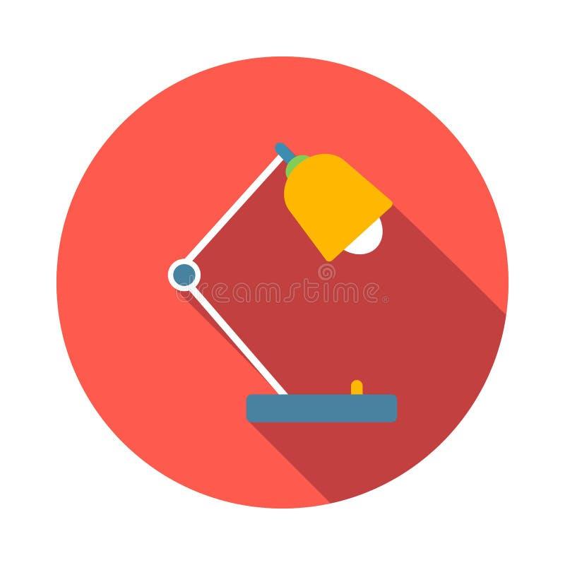 Ícone da lâmpada de mesa, estilo liso ilustração stock
