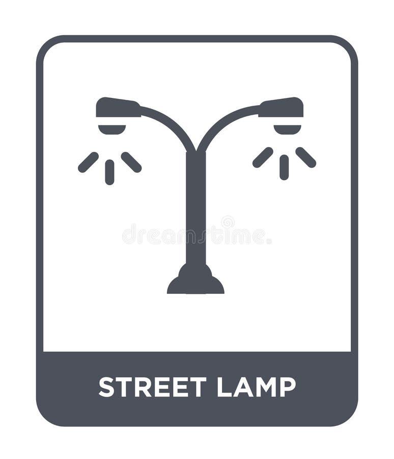 ícone da lâmpada de rua no estilo na moda do projeto ícone da lâmpada de rua isolado no fundo branco ícone do vetor da lâmpada de ilustração do vetor
