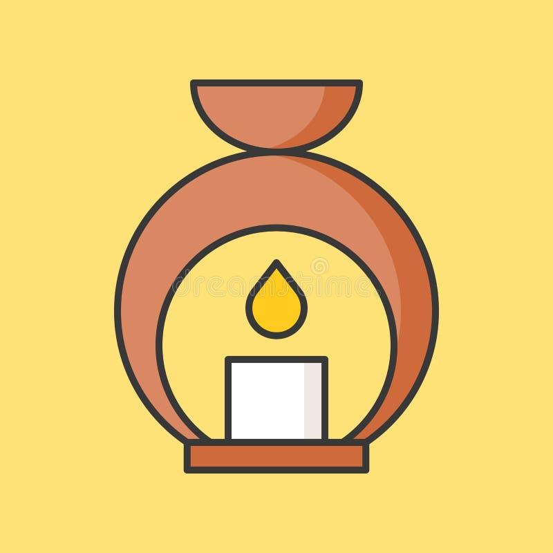 Ícone da lâmpada do aroma ilustração stock