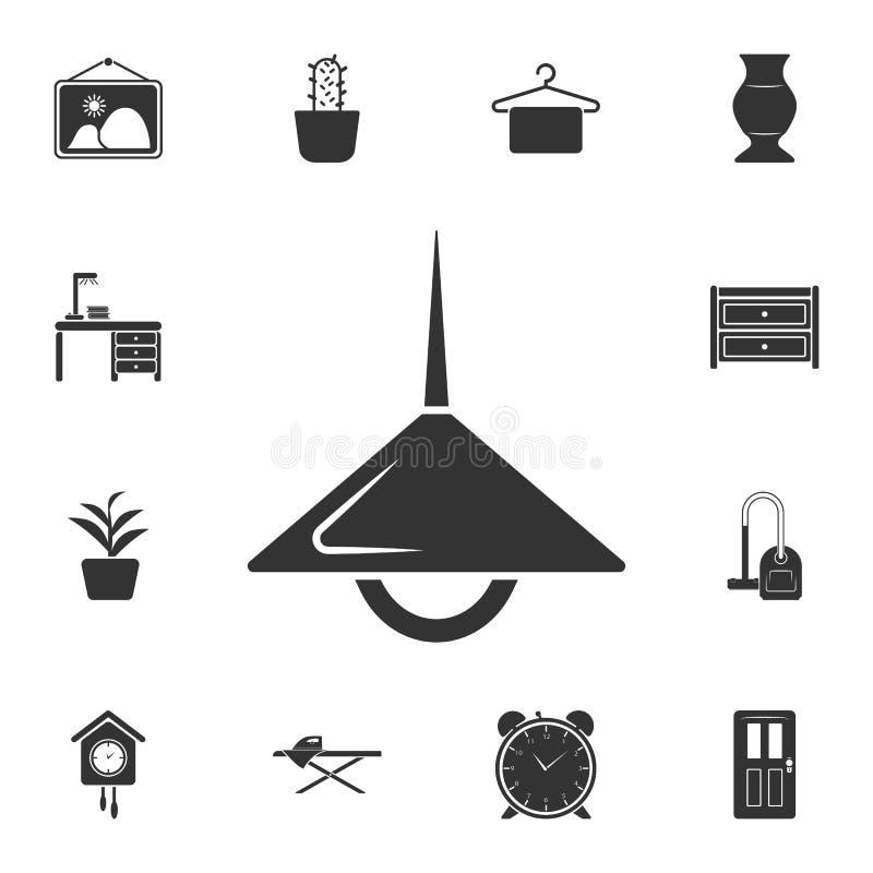 Ícone da lâmpada do teto Ilustração simples do elemento Projeto do símbolo da lâmpada do teto do grupo home da coleção da mobília ilustração stock