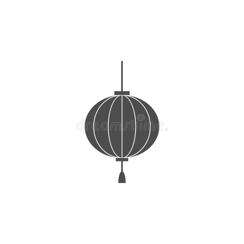 Ícone da lâmpada Elementos do ícone chinês da cultura Ícone superior do projeto gráfico da qualidade O bebê assina, ícone da cole ilustração do vetor