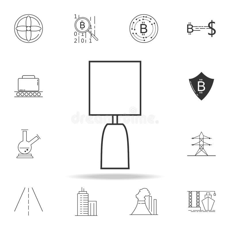 Ícone da lâmpada da noite Grupo detalhado de ícones e de sinais da Web Projeto gráfico superior Um dos ícones da coleção para Web ilustração stock