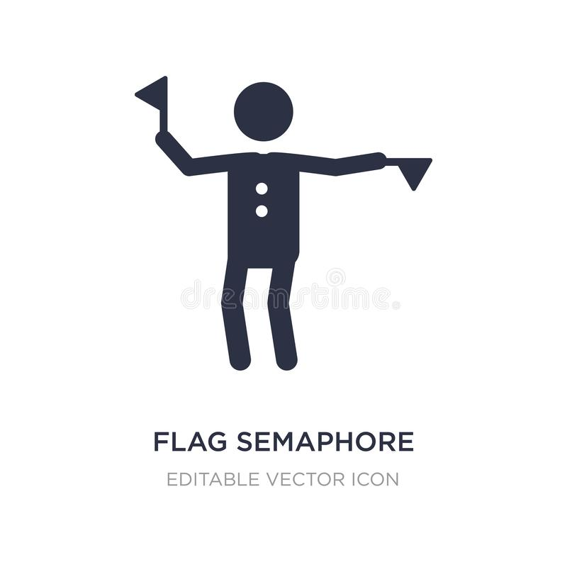 ícone da língua do semáforo de bandeira no fundo branco Ilustração simples do elemento do conceito dos povos ilustração do vetor