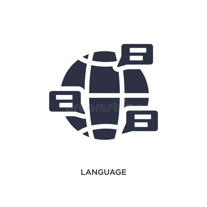 ícone da língua no fundo branco Ilustração simples do elemento do conceito do resumo do trabalho ilustração royalty free