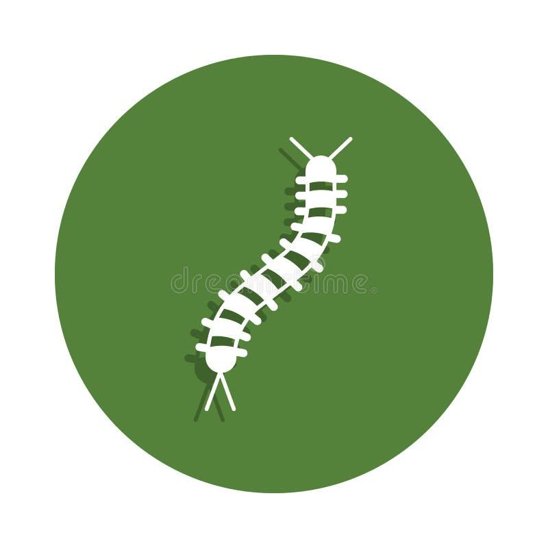 ícone da lagarta no estilo do crachá Um do ícone da coleção dos insetos pode ser usado para UI, UX ilustração do vetor