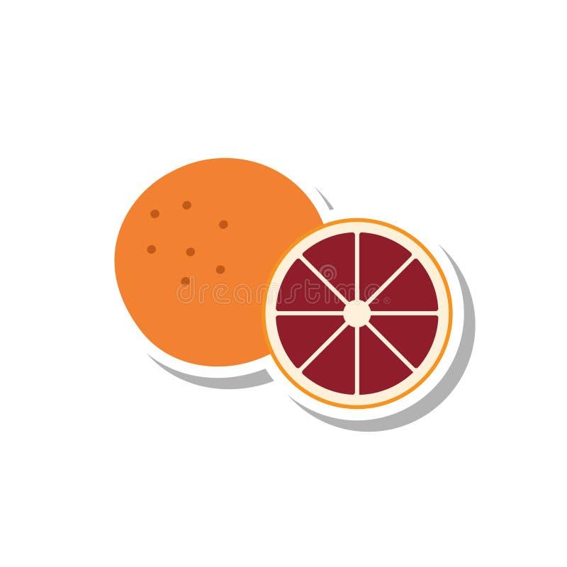 Ícone da laranja pigmentada ilustração stock