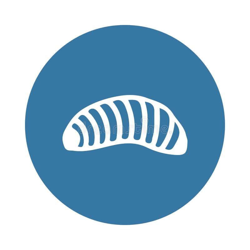 Ícone da larva Elemento de ícones do inseto para apps móveis do conceito e da Web O ícone da larva do estilo do crachá pode ser u ilustração royalty free