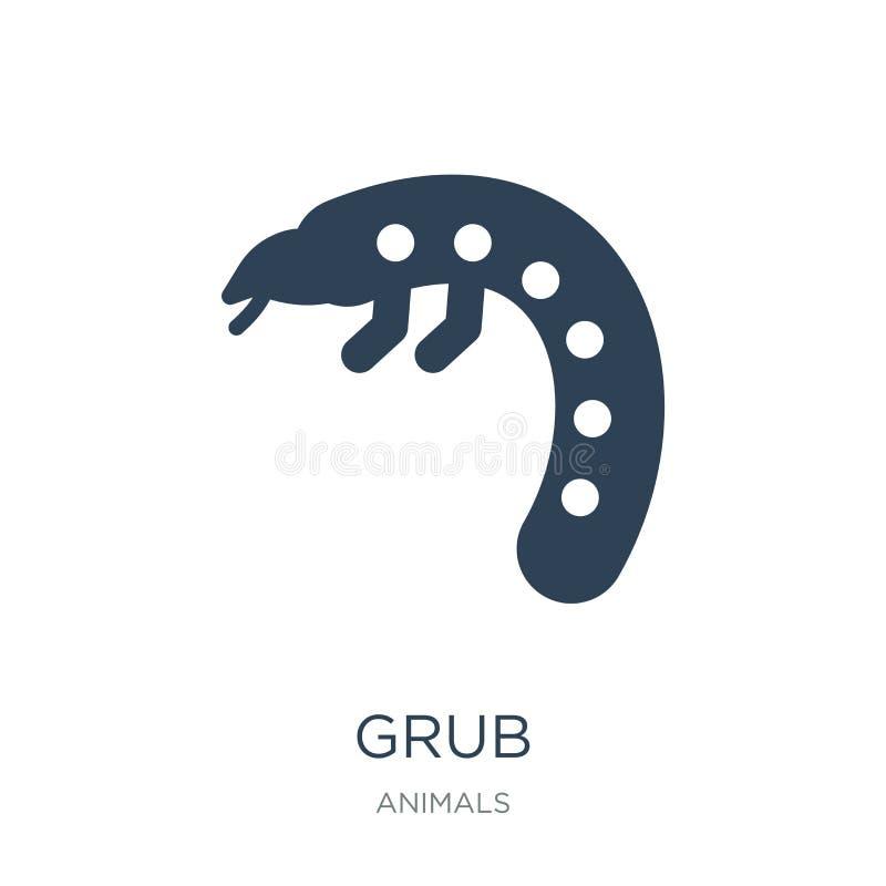 ícone da larva no estilo na moda do projeto ícone da larva isolado no fundo branco símbolo liso simples e moderno do ícone do vet ilustração royalty free
