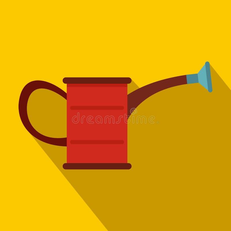 Ícone da lata molhando, estilo liso ilustração do vetor