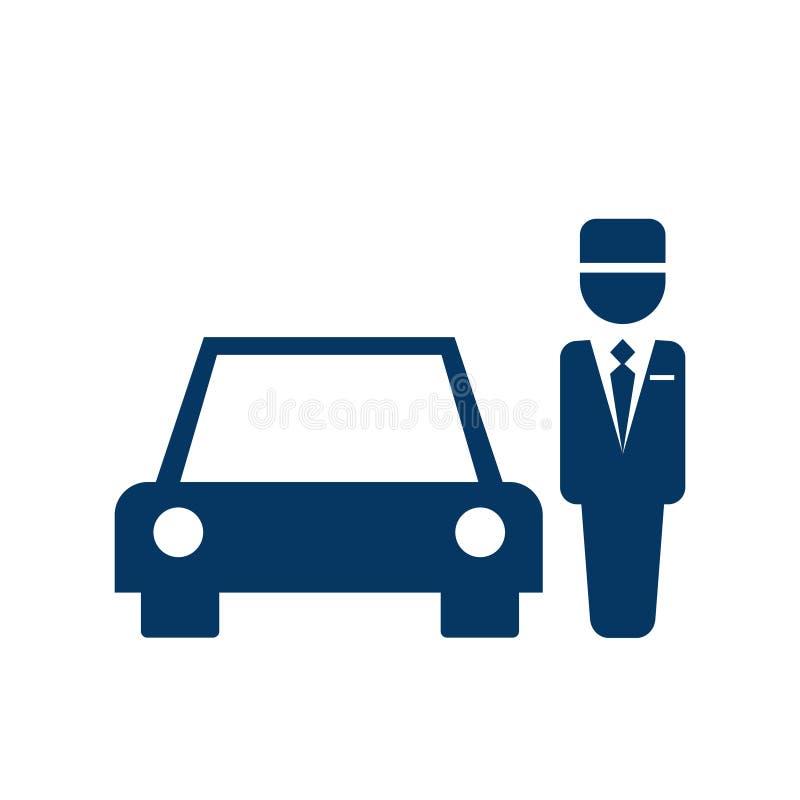 Ícone da lavadeira do estacionamento ilustração royalty free
