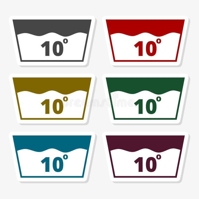 Ícone da lavagem em 10 ilustração stock