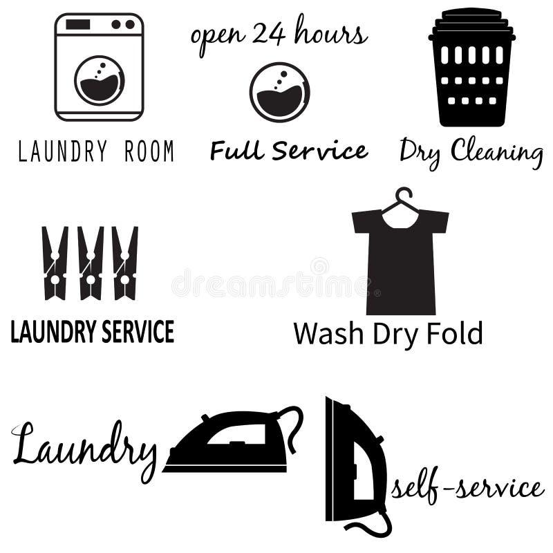 Ícone da lavandaria no fundo branco Estilo liso Ícone para seu projeto do site, logotipo da máquina da lavanderia, app, UI ajuste ilustração do vetor