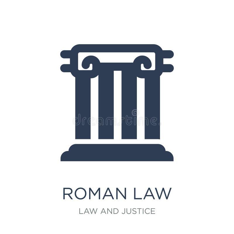 ícone da lei romana Ícone liso na moda da lei romana do vetor no backg branco ilustração royalty free