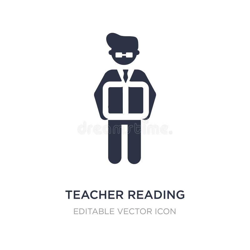 ícone da leitura do professor no fundo branco Ilustração simples do elemento do conceito dos povos ilustração do vetor