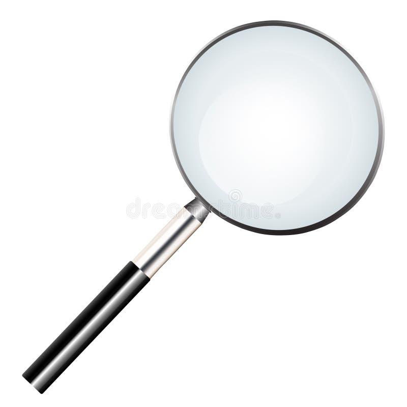Ícone da lente de aumento e ícone da busca nos página da web ilustração royalty free