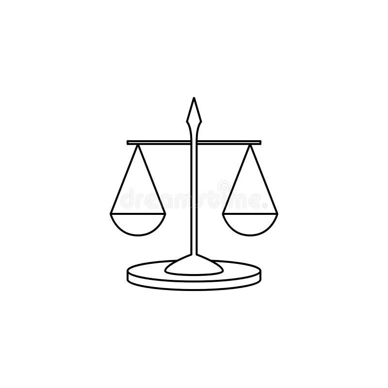 Ícone da Libra Elemento de instrumentos de medição para apps móveis do conceito e da Web Linha fina ícone para o projeto e o dese ilustração royalty free