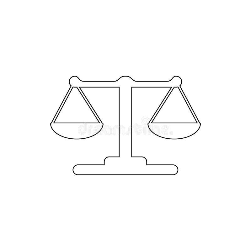 Ícone da Libra Elemento do crime para o conceito e o ícone móveis dos apps da Web Linha fina ícone para o projeto do Web site e o ilustração royalty free