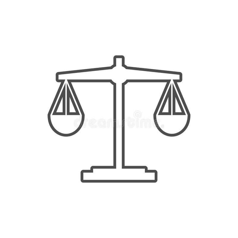 Ícone da Libra Elemento da segurança do cyber para o conceito e o ícone móveis dos apps da Web Linha fina ícone para o projeto do ilustração do vetor