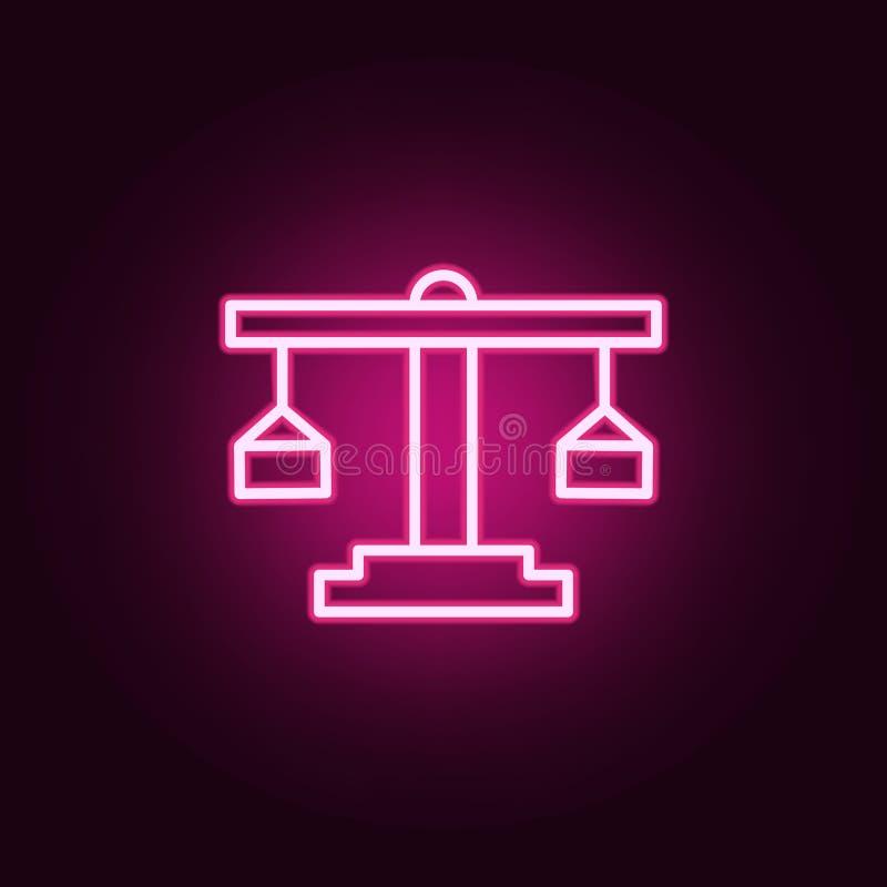 Ícone da Libra Elementos da Web nos ícones de néon do estilo Ícone simples para Web site, design web, app móvel, gráficos da info ilustração do vetor