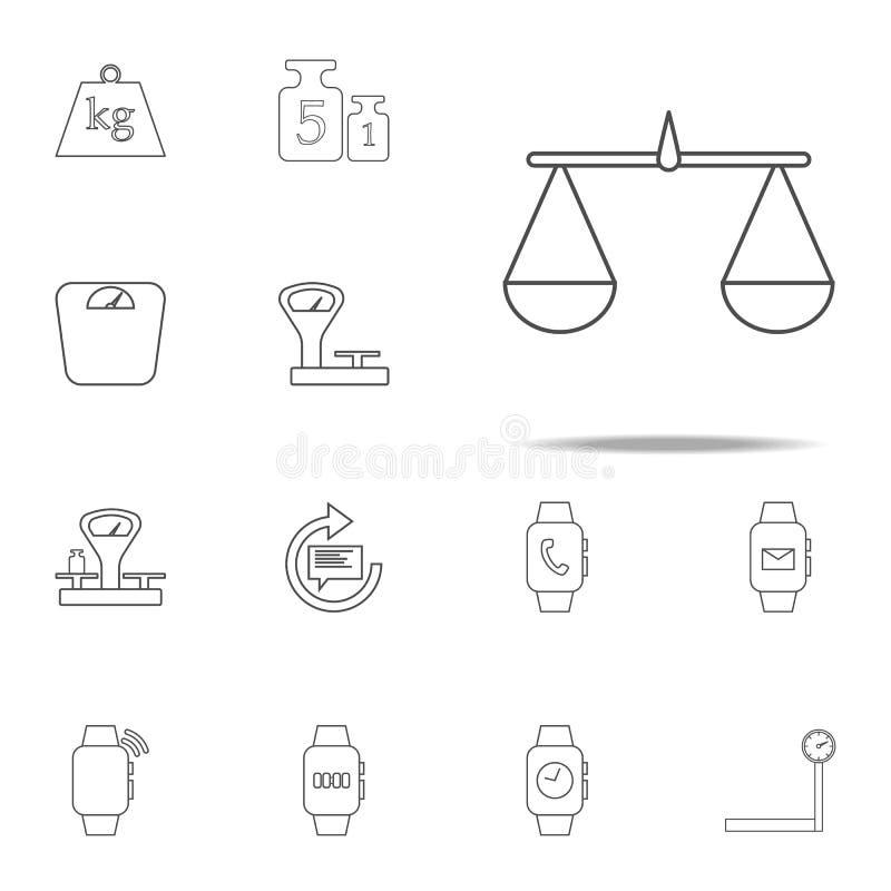 Ícone da Libra grupo universal dos ícones da Web para a Web e o móbil ilustração do vetor