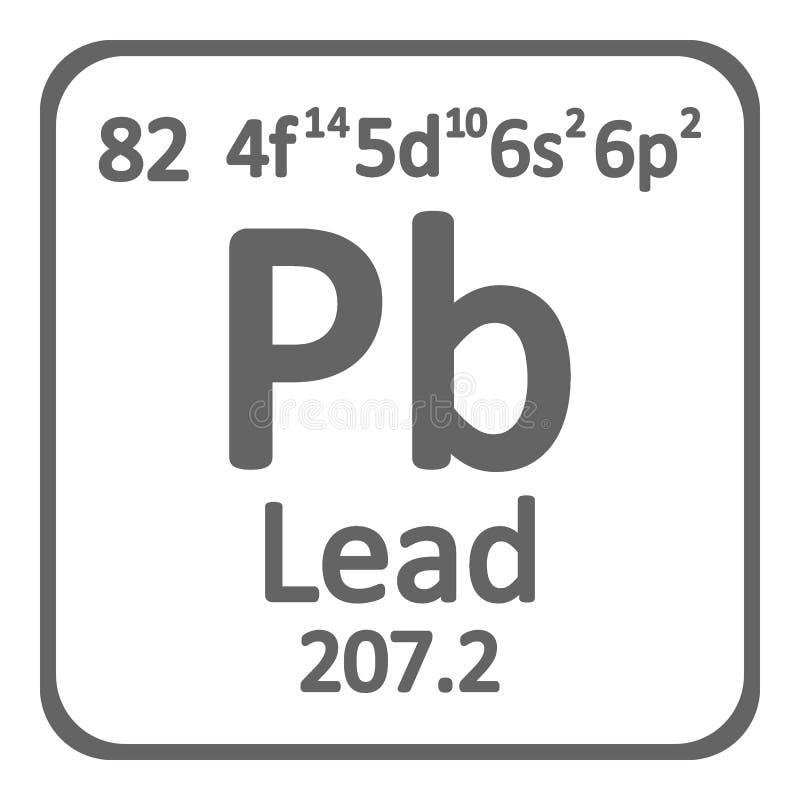 Ícone da ligação do elemento de tabela periódica ilustração stock