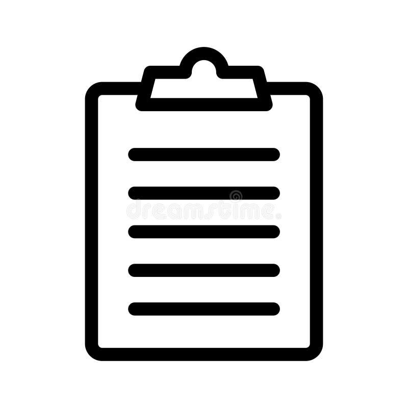 Ícone da lista de verificação ilustração royalty free