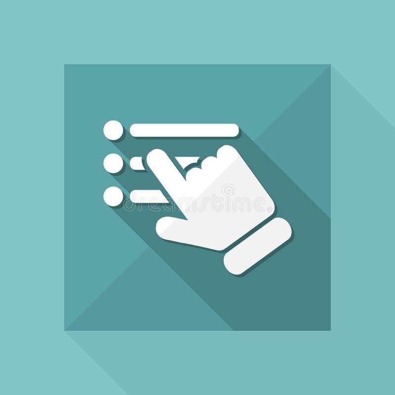 Ícone da lista de verificação ilustração stock