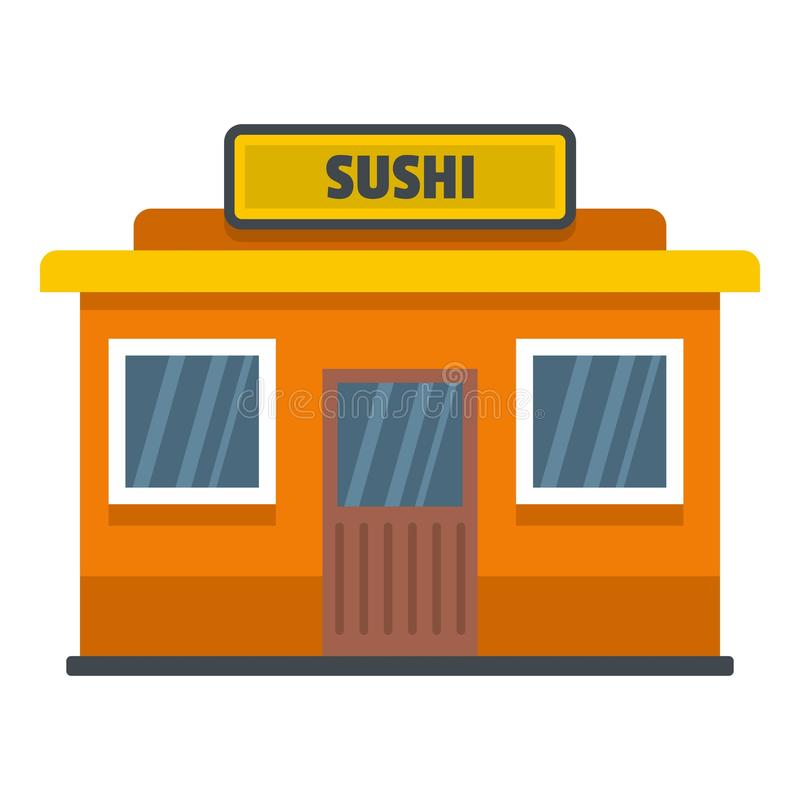 Ícone da loja do sushi, estilo liso ilustração stock
