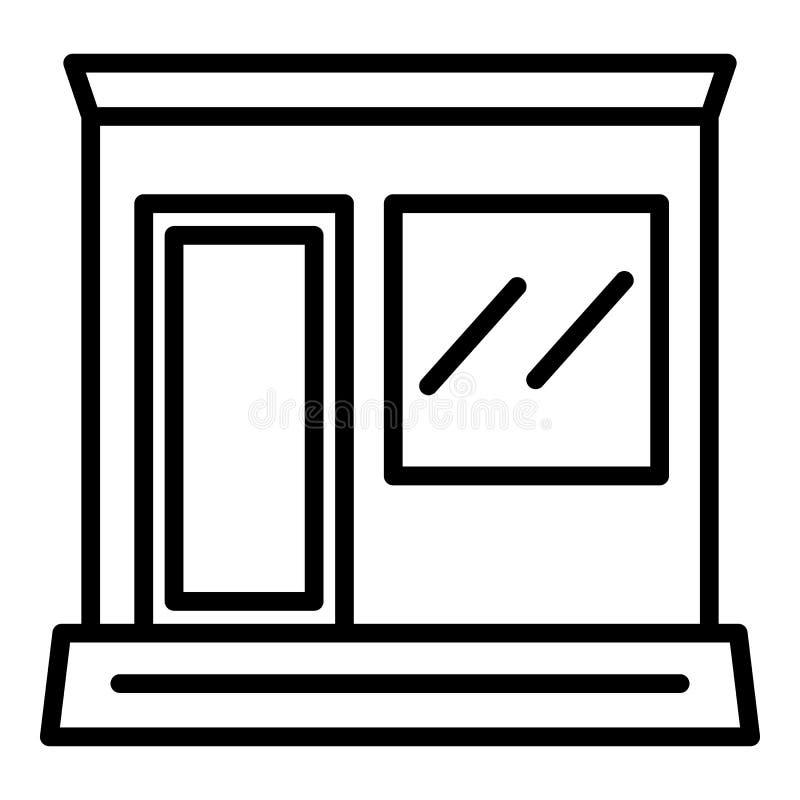 Ícone da loja da rua do jornal, estilo do esboço ilustração do vetor