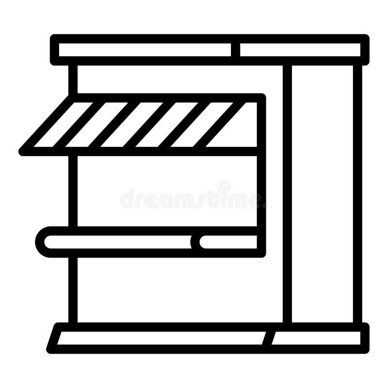 Ícone da loja da rua, estilo do esboço ilustração royalty free