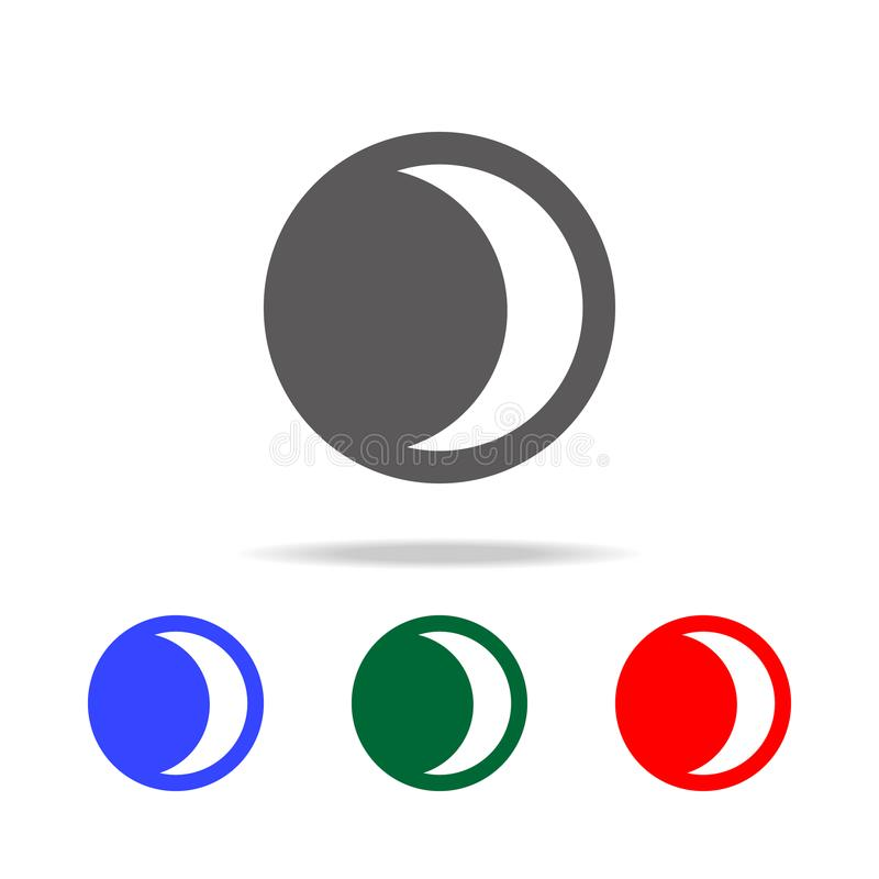 ícone da lua do último trimestre Elementos do tempo em multi ícones coloridos Ícone superior do projeto gráfico da qualidade Ícon ilustração stock
