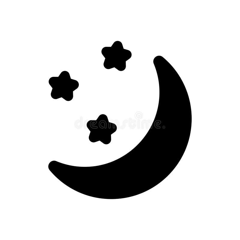 Ícone da lua da noite do tempo simples ilustração royalty free