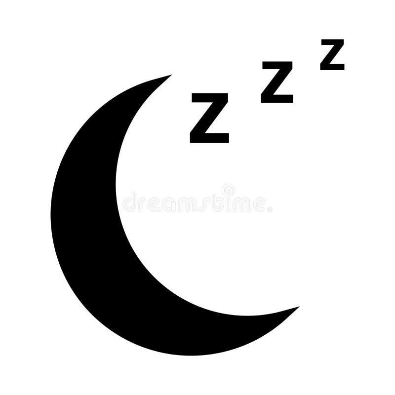 Ícone da lua, símbolo do sono Ilustração do vetor ilustração do vetor