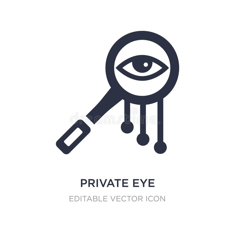 ícone da lupa do detetive privado no fundo branco Ilustração simples do elemento do conceito geral ilustração royalty free