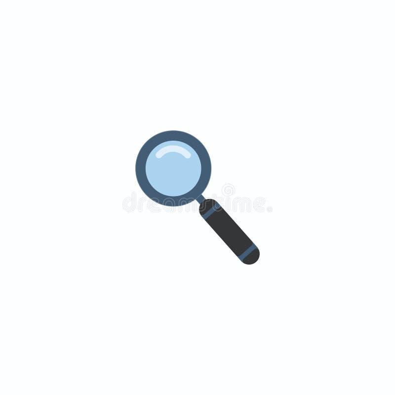 Ícone da lupa, lente de aumento do vetor ou sinal da lupa Fundo branco Ilustração do vetor Eps 10 ilustração royalty free
