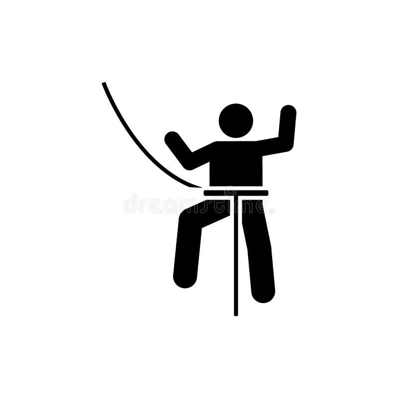 Ícone da luta do esporte do curso do homem Elemento da ilustração da aventura do pictograma ilustração stock