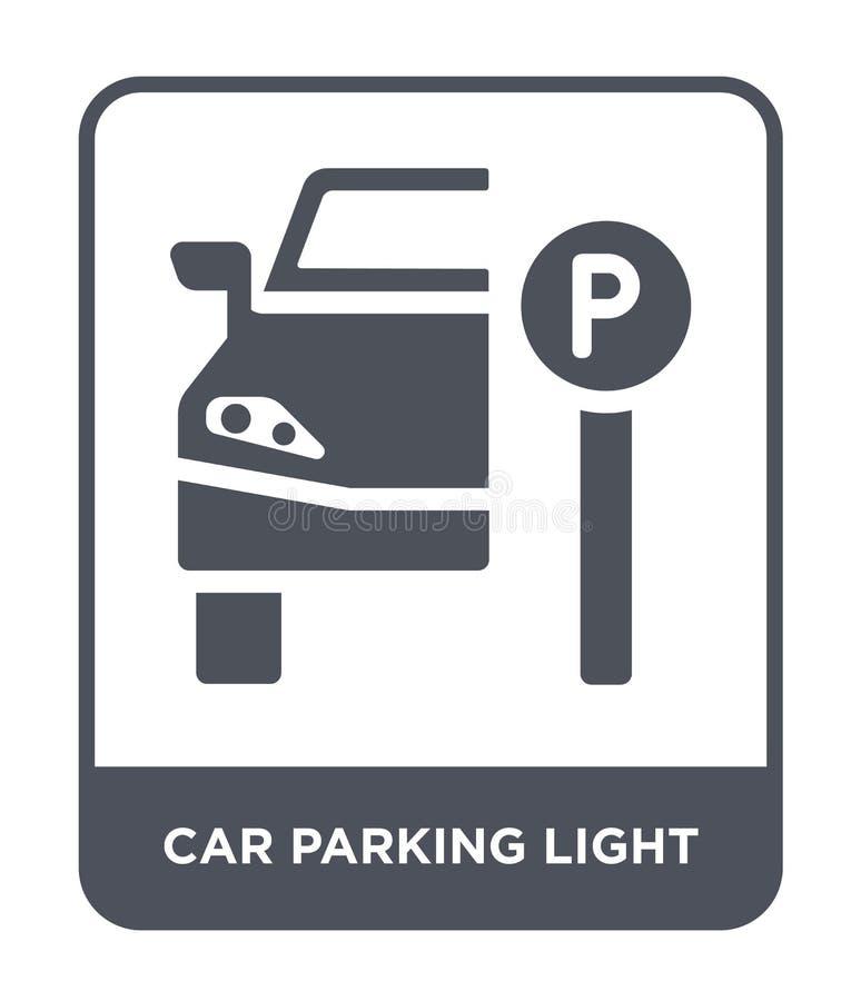 ícone da luz de estacionamento do carro no estilo na moda do projeto ícone da luz de estacionamento do carro isolado no fundo bra ilustração do vetor