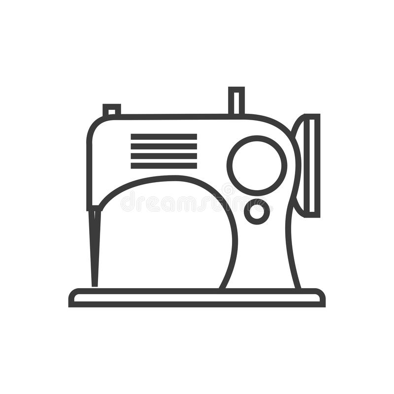 Ícone da máquina de costura ilustração stock