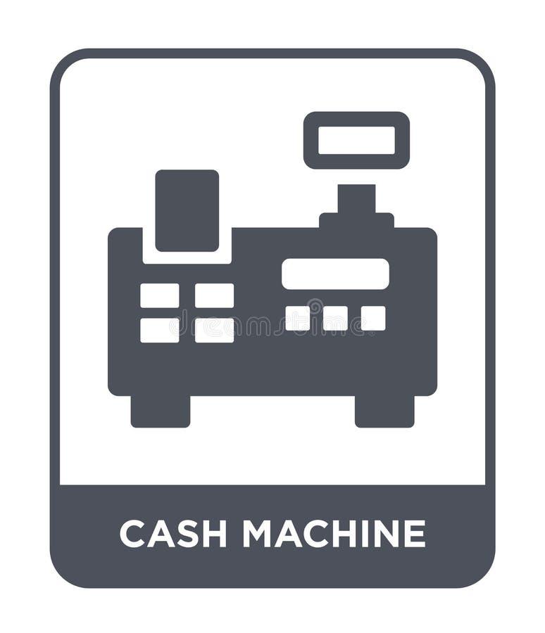 ícone da máquina de dinheiro no estilo na moda do projeto ícone da máquina de dinheiro isolado no fundo branco ícone do vetor da  ilustração stock