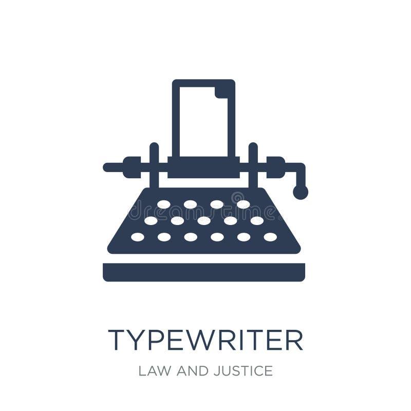 Ícone da máquina de escrever  ilustração stock