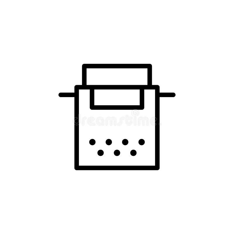 Ícone da máquina de escrever Pode ser usado para a Web, logotipo, app móvel, UI, UX ilustração royalty free