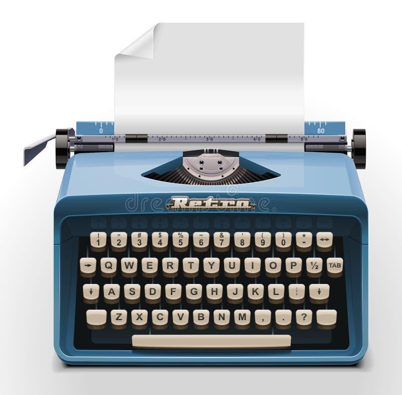 Ícone da máquina de escrever XXL do vetor ilustração stock