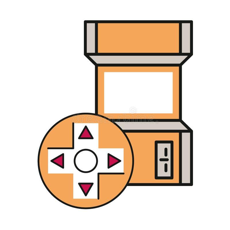 Ícone da máquina retrorreflectora do jogo de vídeo fotos de stock