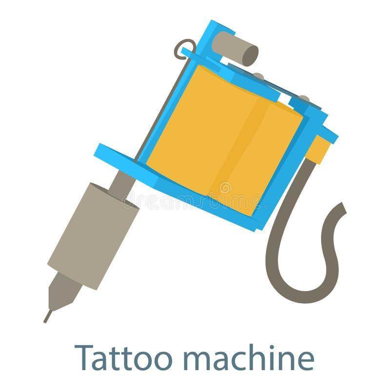 Ícone da máquina da tatuagem, estilo 3d isométrico ilustração stock