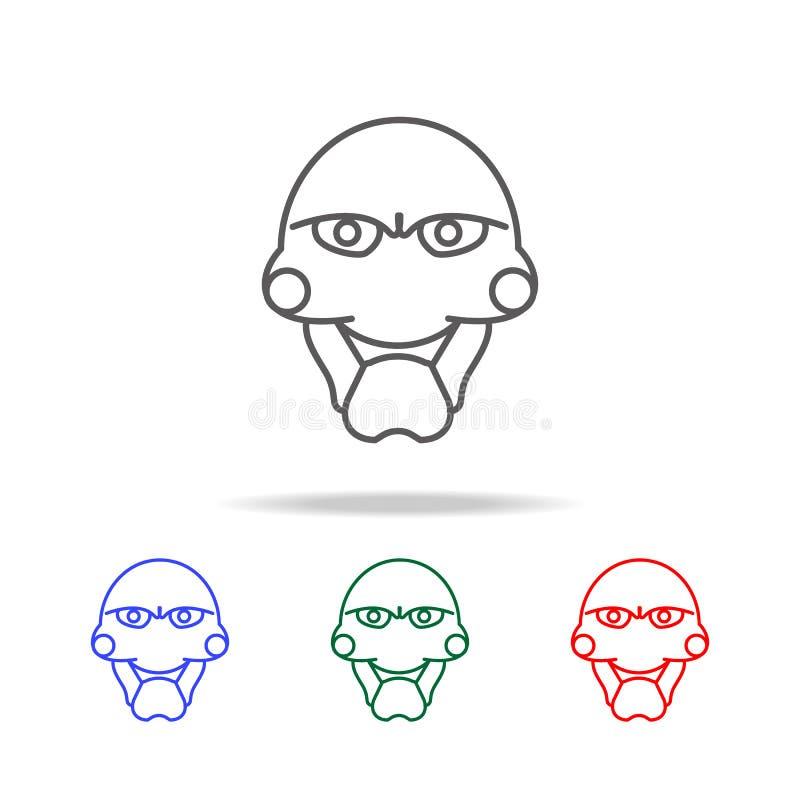 ícone da máscara do fantoche Elementos de Dia das Bruxas em multi ícones coloridos Ícone superior do projeto gráfico da qualidade ilustração stock