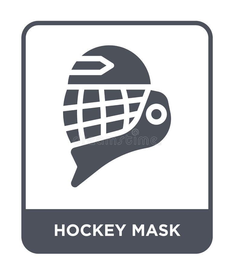ícone da máscara do hóquei no estilo na moda do projeto ícone da máscara do hóquei isolado no fundo branco ícone do vetor da másc ilustração do vetor
