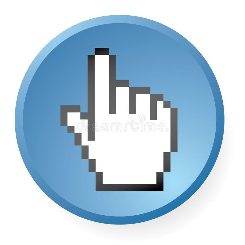 Ícone da mão do computador ilustração royalty free